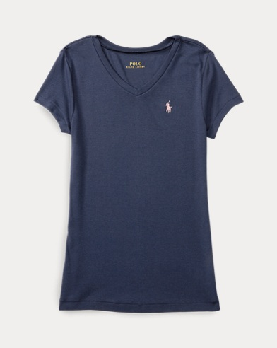 Cotton-Modal V-Neck Tee