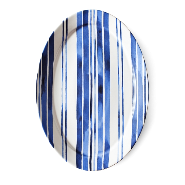 Ralph Lauren Côte D'azur Striped Platter Blue And White One Size