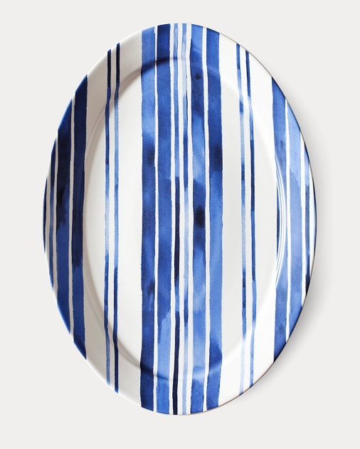 Côte d'Azur Striped Platter