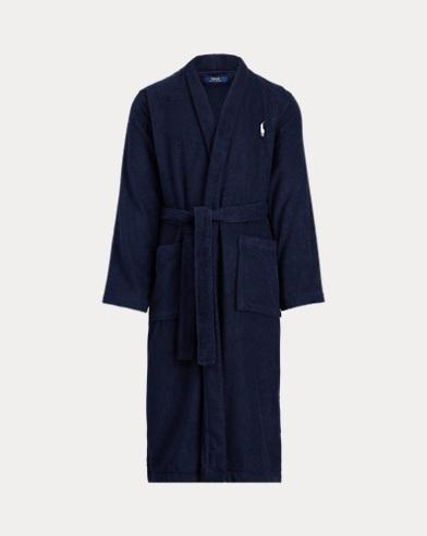 Peignoir kimono en coton éponge