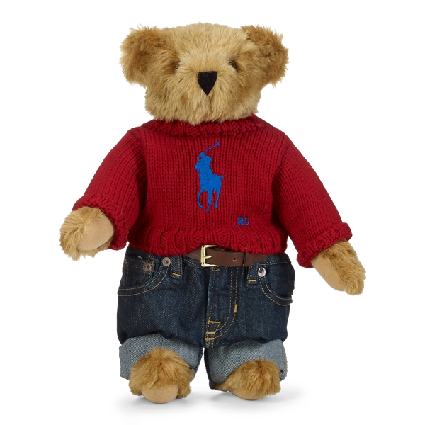 Ralph Lauren Limited-Edition Big Pony Bear Red One Size