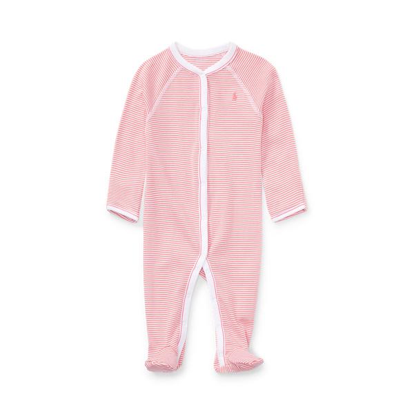 폴로 랄프로렌 Polo Ralph Lauren Striped Cotton Footed Coverall,Paisley Pink Multi