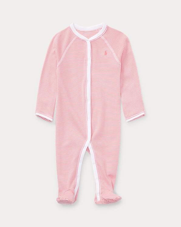 Striped Cotton Footed Coverall