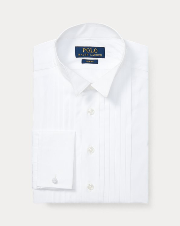 폴로 랄프로렌 보이즈 셔츠 Polo Ralph Lauren Cotton Wing-Collar Dress Shirt,White