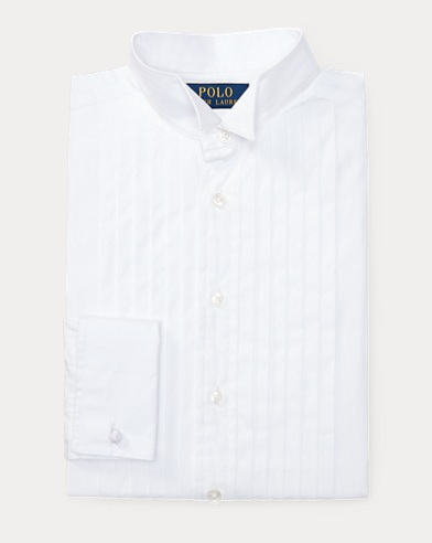Cotton Wing-Collar Dress Shirt