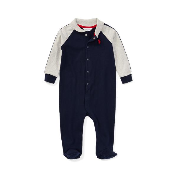 폴로 랄프로렌 Polo Ralph Lauren Cotton Jersey Footed Coverall,French Navy