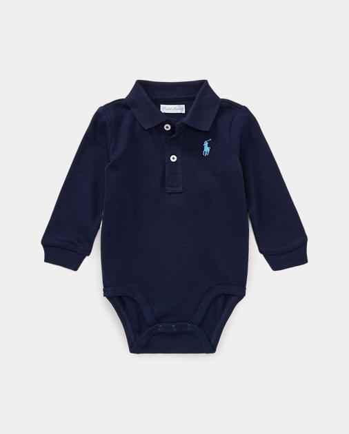 e9708b26b Cotton Jersey Polo Bodysuit | Polo Shirts & Bodysuits Baby | Ralph ...