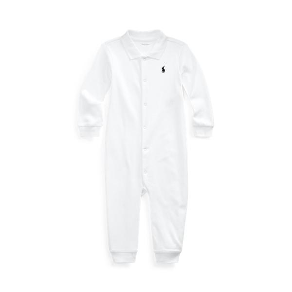 폴로 랄프로렌 Polo Ralph Lauren Soft Cotton Polo Coverall,White