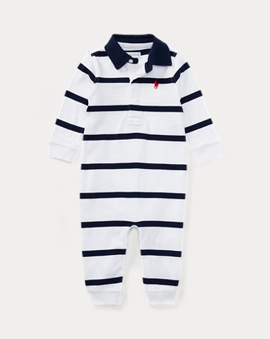 Tutina rugby in cotone a righe