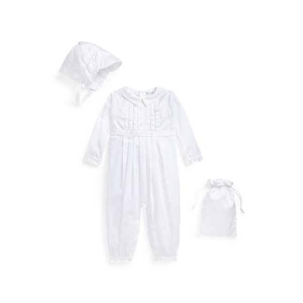 폴로 랄프로렌 Polo Ralph Lauren Cotton Christening Coverall,White