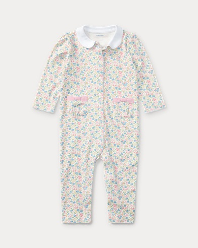 Floral-Print Cotton Coverall
