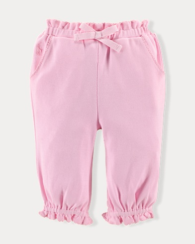 Ruffled Cotton Pant