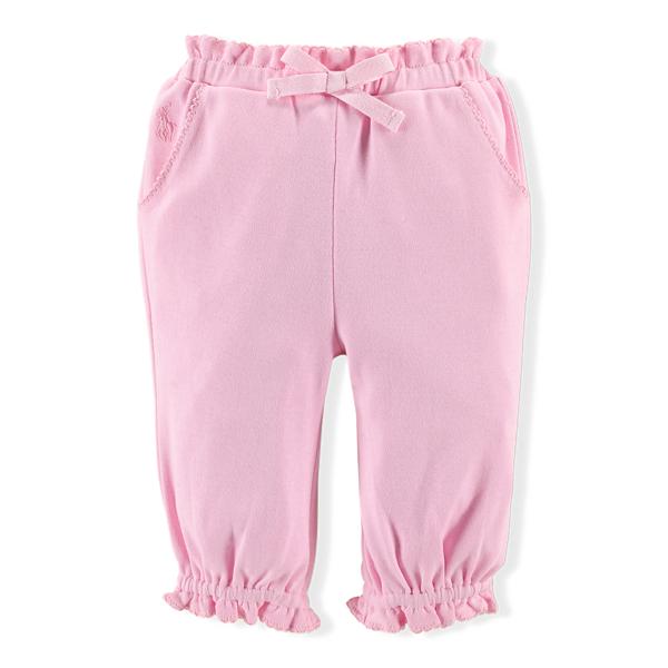 Ralph Lauren Ruffled Cotton Pant Carmel Pink 6M