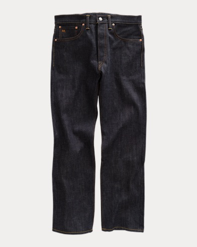 Indigo-Dyed Straight-Leg Jean