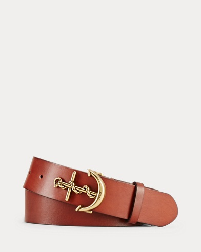 Leather Anchor-Buckle Belt