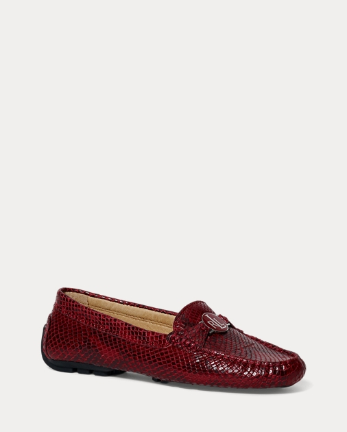 77eadc7c235 Lauren Carley Python-Embossed Loafer 1