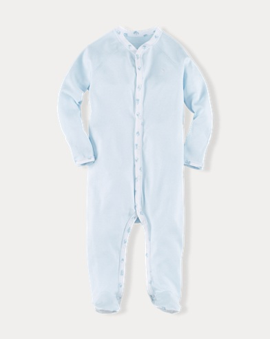 Solid Cotton Footed Coverall