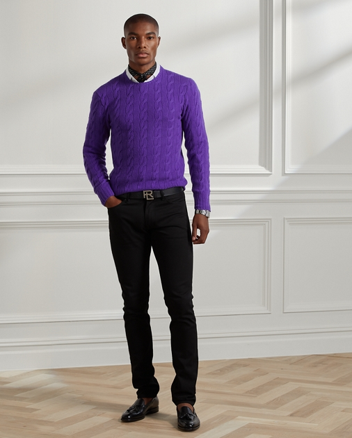 3ed4de15 Cable-Knit Cashmere Sweater | Crewneck Sweaters | Ralph Lauren