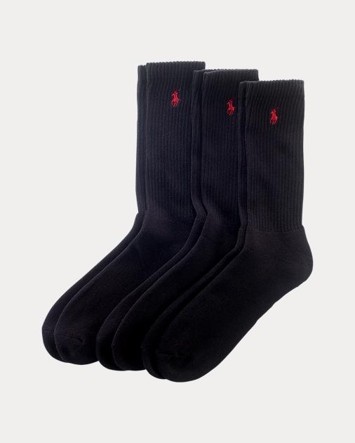 82864252175 Polo Ralph Lauren Cotton-Blend Crew Sock 3-Pack 1