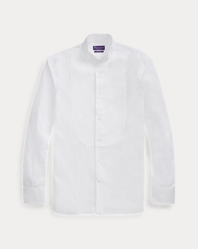 Wingtip-Collar Poplin Shirt