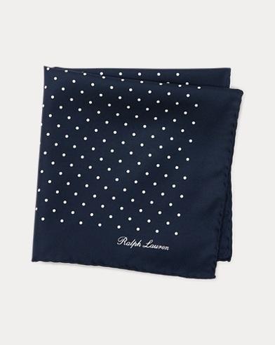 Polka-Dot Silk Pocket Square