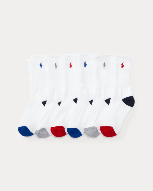 Athletic Crew Sock 6 Pack by Ralph Lauren