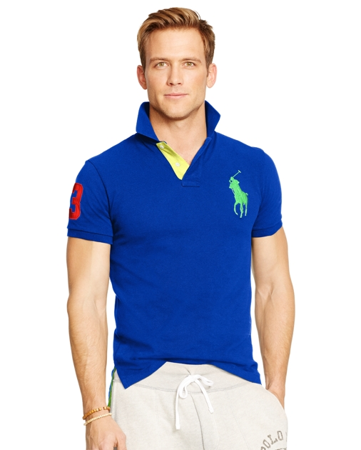 89fb90ab Polo Ralph Lauren Custom-Fit Big Pony Polo Shirt 1