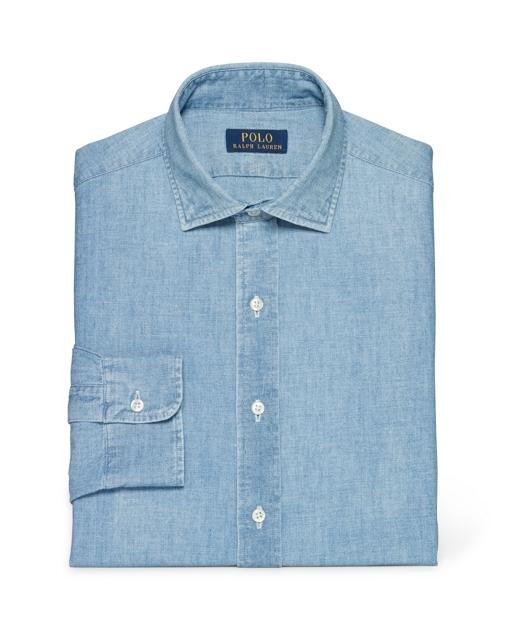8cf785f79 Polo Ralph Lauren Slim-Fit Indigo Chambray Shirt 1