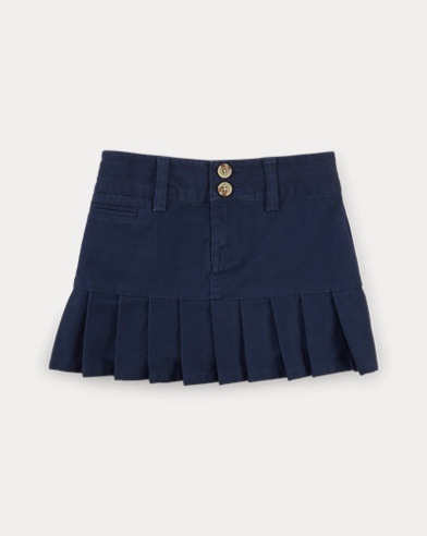 Stretch Cotton Chino Skirt