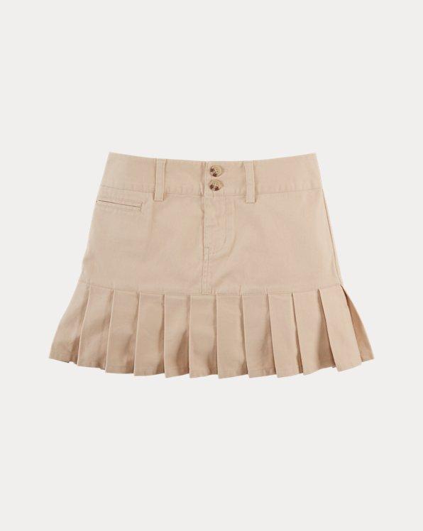 Stretch Cotton Chino Skirt