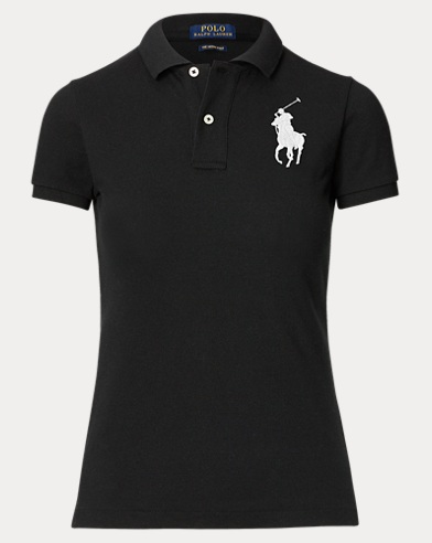 Camiseta polo Big Pony de hechura ajustada