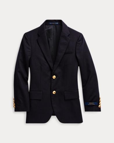 Abrigo deportivo de lana con botones de latón