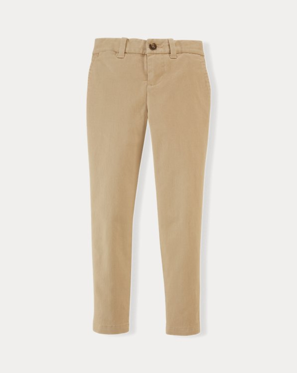 폴로 랄프로렌 여아용 치노 바지 Polo Ralph Lauren Stretch Cotton Chino Pant,Brown
