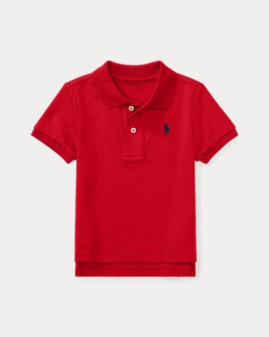 Polo en interlock de coton
