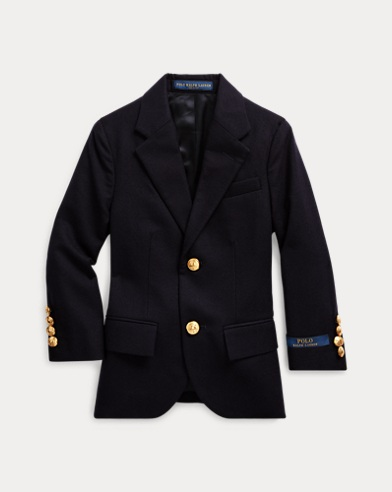 Wool Brass-Button Sport Coat