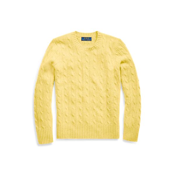 폴로 랄프로렌 보이즈 꽈베기 스웨터 Polo Ralph Lauren Cable Knit Cashmere Sweater,Beekman Yellow