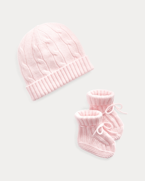 Cashmere Hat   Booties Set  4237773d9f4