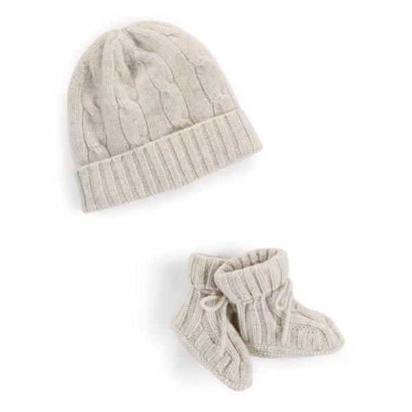 Cashmere Hat & Bootie Set
