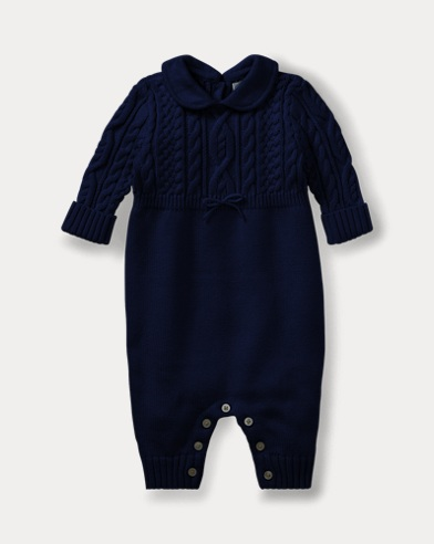 Aran-Knit Cotton Coverall