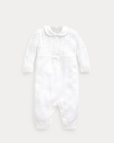 Combinaison en coton tricot d'Aran