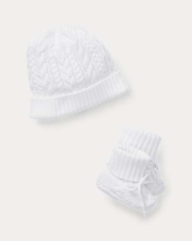 Cotton Hat   Booties Set ded679003b74