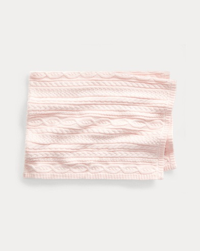 Cable-Knit Cotton Blanket