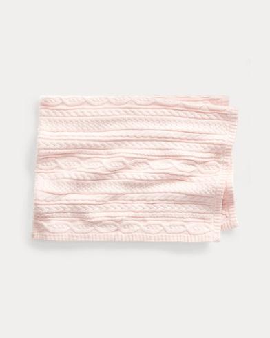 Baumwolldecke mit Zopfmuster
