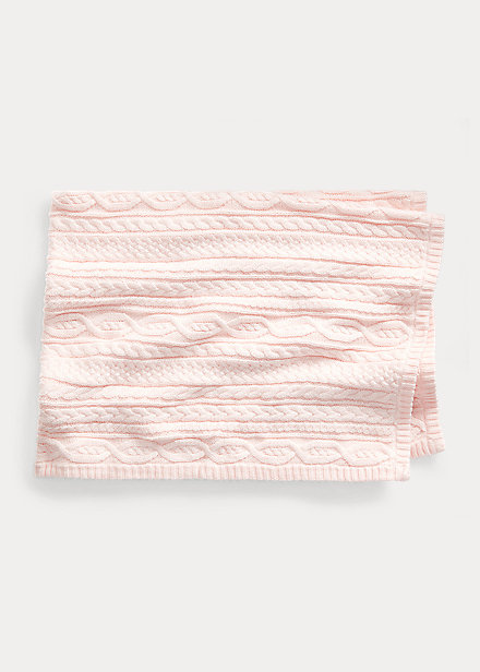 Polo Ralph Lauren Aran-Knit Cotton Blanket