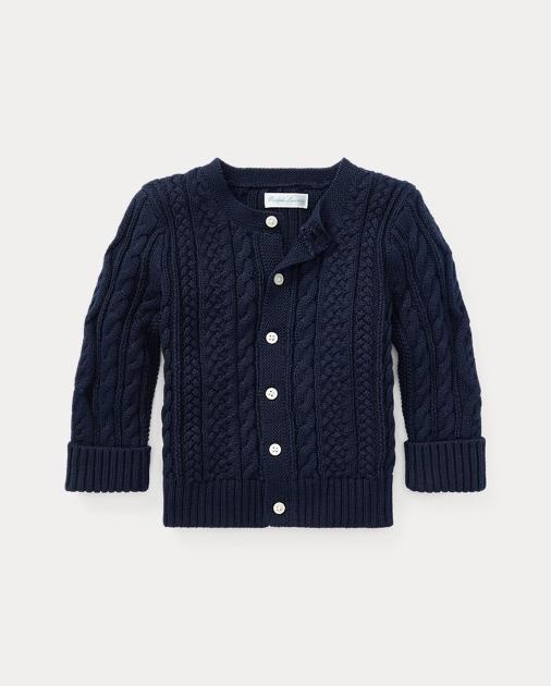 a77b87b9b0 Aran-Knit Cotton Cardigan | Sweaters Baby | Ralph Lauren