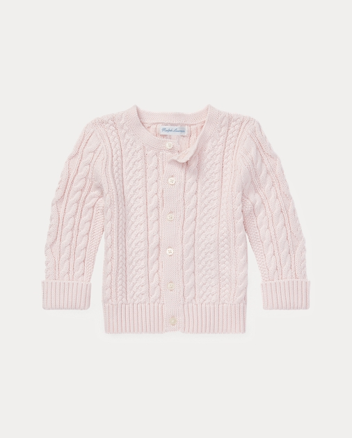 2f10f46676 Aran-Knit Cotton Cardigan | Sweaters BABY GIRL (0-24 months) | Ralph ...