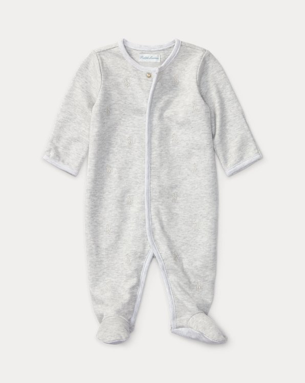 Tonal Polo Pony Cotton Footed Coverall