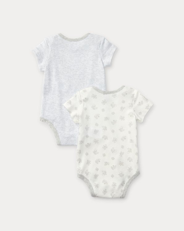 Bear-Print Cotton Bodysuit 2-Pack