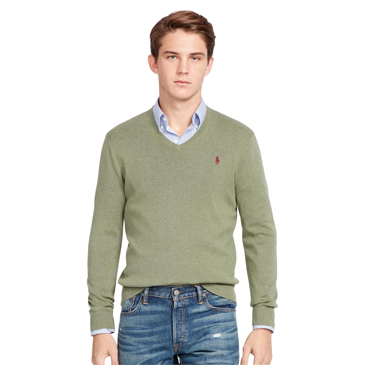 3f465a1c95bc Cotton V-Neck Sweater | V-Neck Sweaters | Ralph Lauren