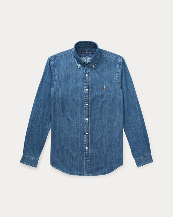 Slim Fit Denim Sport Shirt